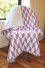 442 best baby quilt patterns images on Pinterest | Pointe shoes ... & Purple herringbone baby quilt by Brooklyn Quilting Co. Adamdwight.com
