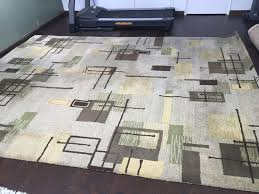 contemporary mid century modern pattern rug 100 wool made in india 8 10