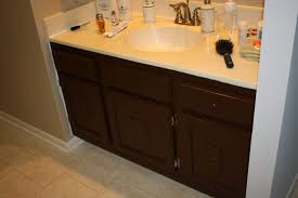 elegant black wooden bathroom cabinet. Bathroom: Elegant Black Wooden Painting Bathroom Cabinets With Countertops And Stainless Steel Sink Faucets Cabinet S