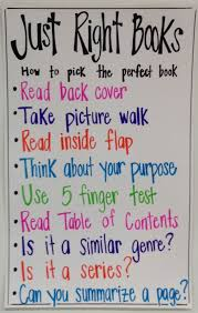 Just Right Book Chart Students Often Find It Difficult To Remember To Check A Book