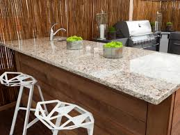 Outdoor Kitchen Countertops Pictures Tips  Expert Ideas HGTV - Granite kitchen counters