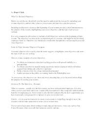Objective Section Resume Objective Section Of A Resumes Good