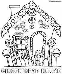 Gingerbread House Coloring Pages Download Coloring For Kids 2018