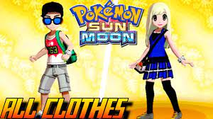 Pokémon Sun and Moon - All Clothes (Male & Female) - YouTube