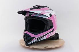 Details About Zox Rush Jr Lucid Youth Mx Offroad Helmet Pink