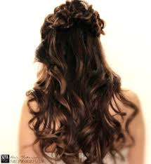 romantic flower braid half up half down updo hairstyles prom wedding bridal