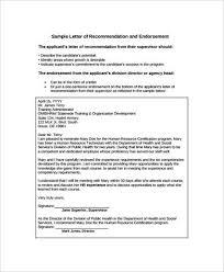 26 Sample Endorsement Letters Writing Letters Formats