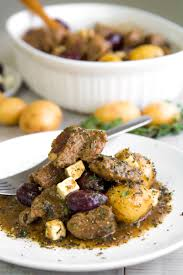 Lamb Stew Recipe Greek Lamb Stew With Salmoriglio Marinade Olives And Feta Cheese