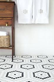 white vinyl floor tiles bathroom renovation a custom upgrade on a budget hexagon floor white vinyl