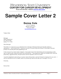 Cover Letter Sales Representative Cover Letter Outside Sales
