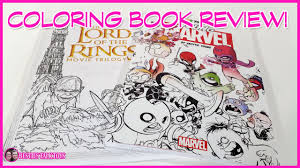 coloring book review lord of the rings and color your own young marvel