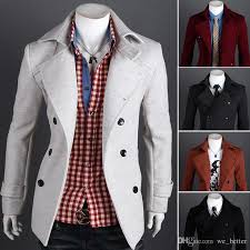 2018 winter coat lapel men double ted casual wool fitted pea coat manteau homme red peacoat trencas de lana hombres from we better 40 21 dhgate com