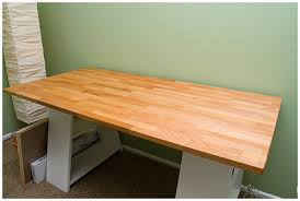 Outstanding Ikea Ske Tabletop With Fagerlid Legs Sanded The Tabletop Flickr  Pertaining To Table Top Desk Ordinary