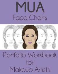 bol mua face charts portfolio workbook for makeup artists sarie smith 9781544945804