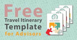 Free Travel Itinerary Template