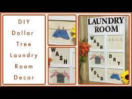 dollar tree diy laundry room decor