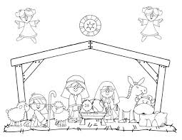 Small Picture Christmas Coloring Pages Manger Coloring Pages
