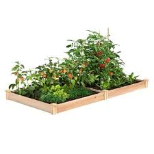 x 5 5 in h cedar raised garden bed