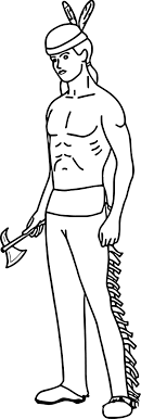 Man Native American Indian Coloring Page Wecoloringpagecom