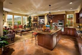 Kitchen And Family Room Kitchen Contemporary Open Floor Plan Kitchen Family Room Ideas