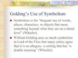 symbolism in lord of the flies ppt video online  2 golding s
