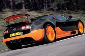 The veyron super sport has 1200 horsepower and goes 258 mph. Bugatti S 268mph Veyron Super Sport The World S Fastest Production Car
