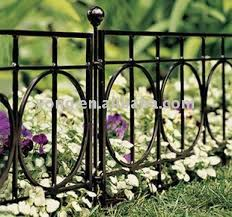 pretty and low garden fence panels