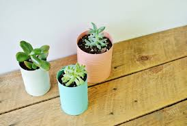 affordable easy diy tin can planters with diy planter.