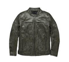 harley davidson reg men s hamilten washed leather jacket underarm zipper vents
