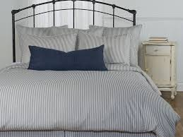 ticking stripe duvet cover blue home design ideas