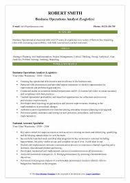 business operations specialist business operations analyst resume samples qwikresume