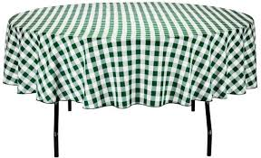linentablecloth 90 inch round polyester tablecloth green white checker