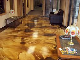 stained concrete floors colors. Stained Concrete Floors In Kitchen And Living Room With Vintage Umber Colors O