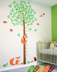 Wall Decal Size Chart Large Tree Wall Decal With Growth Chart Nursery Tree Decoration Size Chart Wall Decals Animal Wall Tattoos Unisex Tree Wall Decals Kw019_2