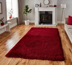 montana dark red plain gy rugs by think