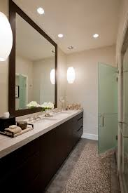 hobby lobby mirrors contemporary bathroom colour schemes chicago baseboards bath accessories ceiling lighting dark floor dark bathroom recessed lighting