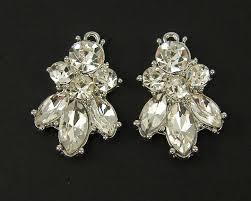 clear rhinestone cer earring findings clear silver chandelier earring parts dressy diy bridal wedding jewelry supply s9 4 2