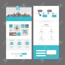 Flat One Page Website Design Template Vector Design