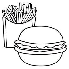 Disegni Da Colorare Hamburger E Patatine Per Bambini Disegni Da