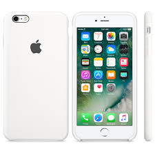 iphone 6 silver case. iphone 6 / 6s silicone case - white iphone silver apple