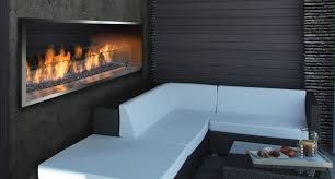 ofp7972s2n outdoor linear fireplace with mq65c glass media ofp79ss stainless steel surround