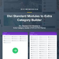 Standard Divi Modules to Extra Category Builder – Divi Web Design