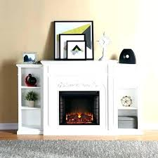corner fireplaces electric fireplace with bookshelf blvd white bookcase tv stand fireplac