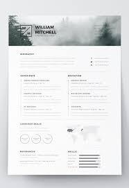 Minimalist Resume 100 Free Editable Minimalist Resume CV In Adobe Illustrator And 70