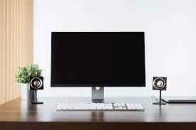 Image home computer setup Laptop Minimalistic And Clean Home Office Computer Setup Free Stock Photo Picjumbo Picjumbo Minimalistic And Clean Home Office Computer Setup Free Stock Photo