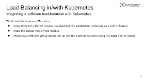 check balancing software kubernetes and software load balancers