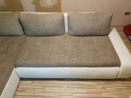 Wohnlandschaft L Form Couch 2x3m Weiß