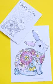 Rabbits have extremely strong hind limbs which allow them to leap great distances. Easter Bunny Coloring Pages Red Ted Art Make Crafting With Kids Easy Fun