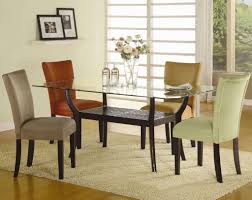 rectangular gl dining table set luxury coaster bloomfield round cross table base with beveled gl top