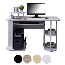 White Pc workstation wooden computer table/office desk hardware parts